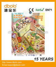 Hot sale vegetable learning charting for kids