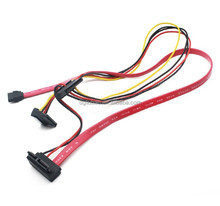 slimline sata 7+6 pin to 7 pin to double 15pin HDD cable