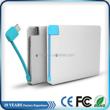 gift standby charger li-polymer power bank credit card size power charger