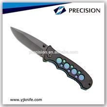 negro de revestimiento de la hoja de acero inoxidable cuchillo de regalo