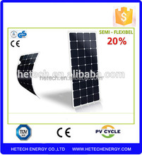 electricity generation 115w monocrystalline flexible pv panel for proof for boats for marine