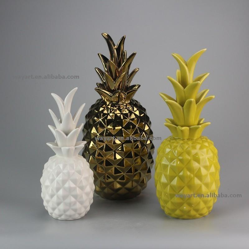 2015 nouveau design ananas en c ramique d coration de la for Ananas deco maison