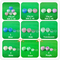 Free shipping!50pcs/lot high quality 10g plastic acrylic cosmetic container, plastic pot for transparent greas