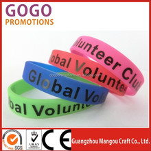 2015 hot selling round silicone bracelet wristband arm cuff band,advertising product silicone boys hand bands