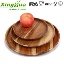 eco friendly round wood plate