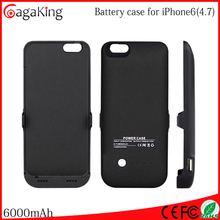 Wholesale Mobile Phone Battery Emergency Charger For iphone 6 case Mobile Power Bank for iphone6 battery case 6000MAH