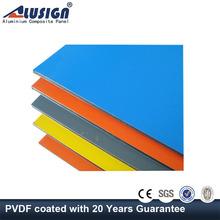 Alusign 2015 hot sale wall aluminium pvdf acm for decoration