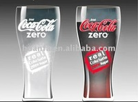 Cold colour change glass ice beer cups with Brande beer logo (FDA)