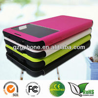 Leather flip case for Samsung Galaxy note3 cover with window