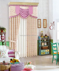 Polyester textile printing curtain cheap curtain/2015 factory price 100polyester finished curtain