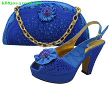 High quality shoes and bags to match women,ladies wedding shoes and bag to match