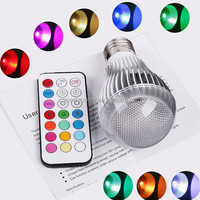 Trade assurance , 100pcs 9W RGB wonderful decaration lighting led e27 bulb with remote controller