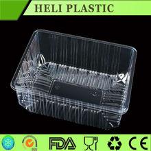 Flat plastic PET cucumber vegetable /fruit container factory in Hebei
