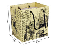 Eco friendly colorful cheap shopping newspaper bag