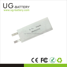Small capacity lipo li-ion battery for smart watches headset