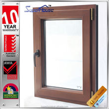 2015 new designed tilt and turn wooden window door models with WEISS adhesive