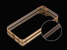 new design Aluminum metal bumper dual color Cell Phone Case for iphone 6