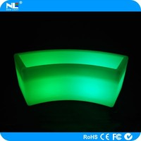 Electronic mood light LED large flower holder / Glow light multi-color clear LED magic plant pot