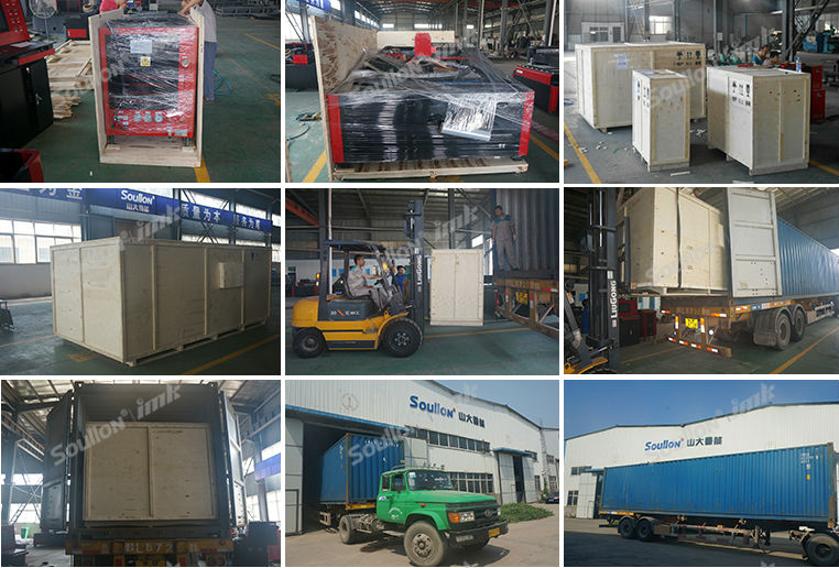 laser cutting machine packing and shipping