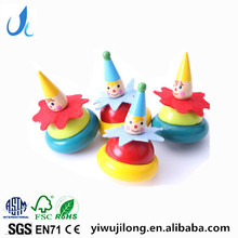 children's educational toys the clown spinning top classic wooden environmental gyro