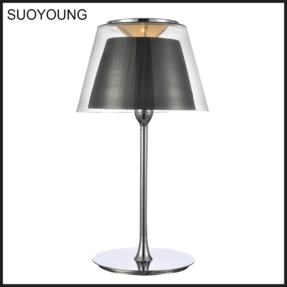 Modern lighting glass fabric table lamp for home decoration mt6018 325 buy high quality item - Contemporary table lamps as fancy decoration for lightning interior ...