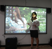Without display high speed dual user interactive whiteboard