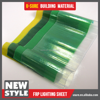 Clear plastic corrugated FRP transparent roofing sheet