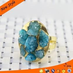 Fancy Imitative Round Flower Latest Gold Rings Design For Women