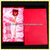 Wholesale Imitation Exquisite Valentine Rose Glass For Wedding Bride Engagement Souvenir