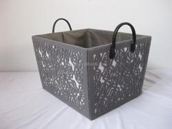 fashion garden wind hollowed-out work decorative storage basket toy basket sundries baskets