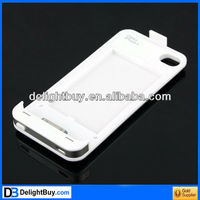 Rechargeable 1350 mAhExternal Battery Charger Case for Apple iPhone 4 4S Silver