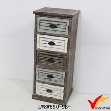 French Style Antique Reclaimed Reproduction Wooden Chest of Drawers