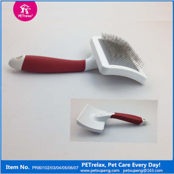 la preparación del perro baños la venta mango largo rojo mango de plástico de baño cepillo
