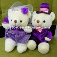 stuffed couple teddy bear with delicate handmade products