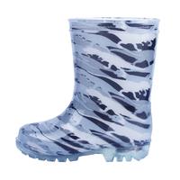 White Dinosaur pattern boys LED light PVC glow rain boots