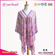 Purple Madrid Love Multi-function shawls Summer Scarf