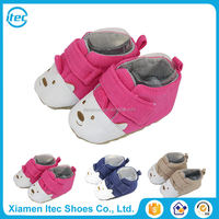 Newborn baby girl pink fuschia toddler shoes with factory wholesale