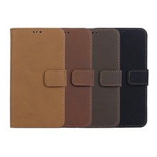 custom flip wallet leather case for galaxy S5 with credit card slot and stand.