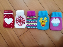 colorful hand warmer with woven pouch