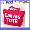 High quality canvas tote bag in China custom logo tote bags for ladies