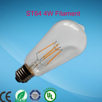 E26 E27 B22 2015 Top sale NEW LED Vintage Filament Bulb ST64 4W 6W 8W 10W for high lumen 25000 hours