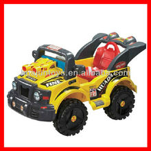 Popular Big Size Yellow toy ride on car children Baby Ride On Police Car 6423