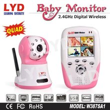 200M 2.5-inch Quad View SD Card Night Vision Motion Detection Recording Two Way Audio Wifi Digital Wireless Baby monitor