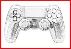 Game Accessories With Factory price skin sticker wireless for ps4 BT controller