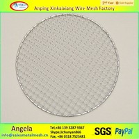 stainless steel disposable bbq grill netting / barbecue wire mesh