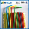 Plastic Straw Middle Large Bend Flexible Drinking straw with mix color