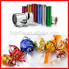 Transparent or Metalized PET PVC Twist Film for Candy Wrapper