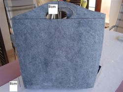 Factory Direct New Design gray /green color Polyester Felt Tote bag for shoppoing