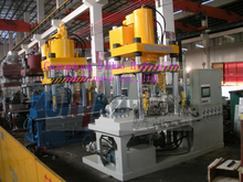 Supply 1200 t large stainless steel tee tee pipe forming hydraulic press, metal water bulge forming machine