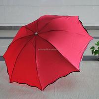 Pongee fabric Steel rib and post Fancy Large rain umbrella